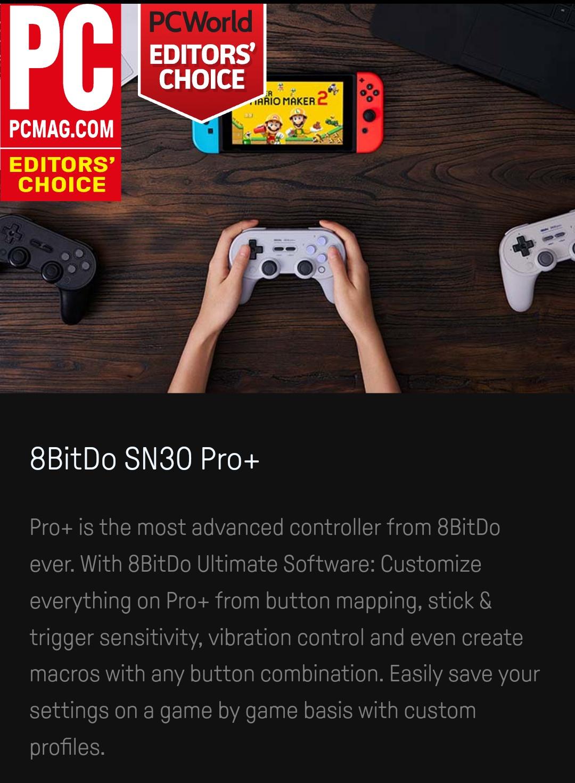 8Bitdo -  Sn30 Pro + -  Belchine 1