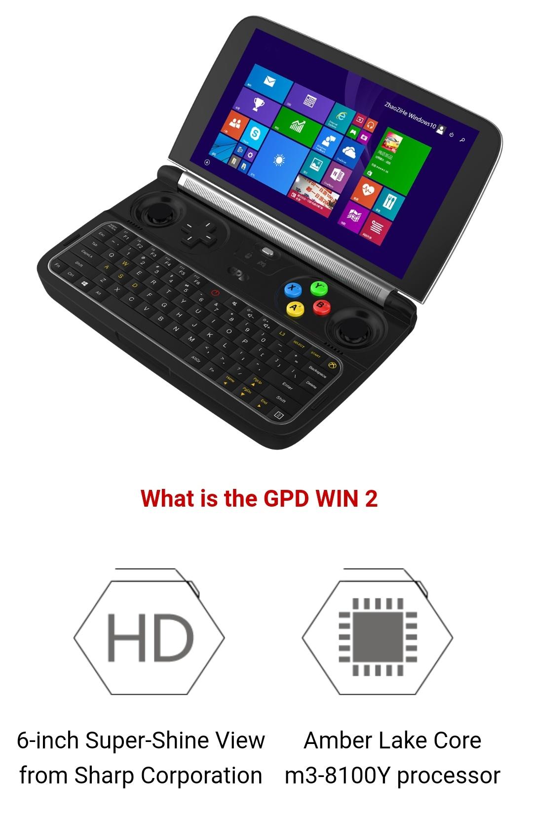 Gpd Win2 M3-8100Y Belchine 4