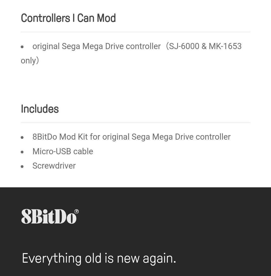 8Bitdo - Diy - Mod kit - Sega Megadrive - Belchine - 9