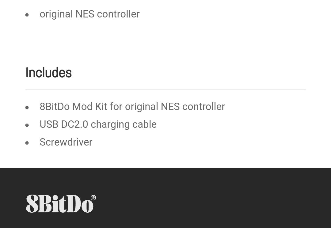 8Bitdo - Mod Kit Nes - Belchine 8