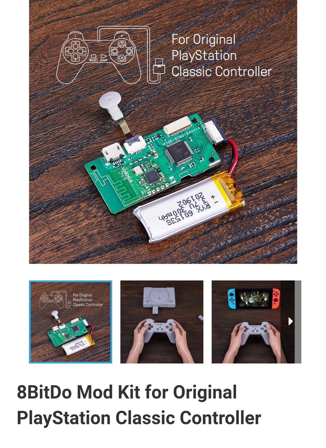8Bitdo-Diy-Mod Kit-Playstation-Classic-Belchine-1