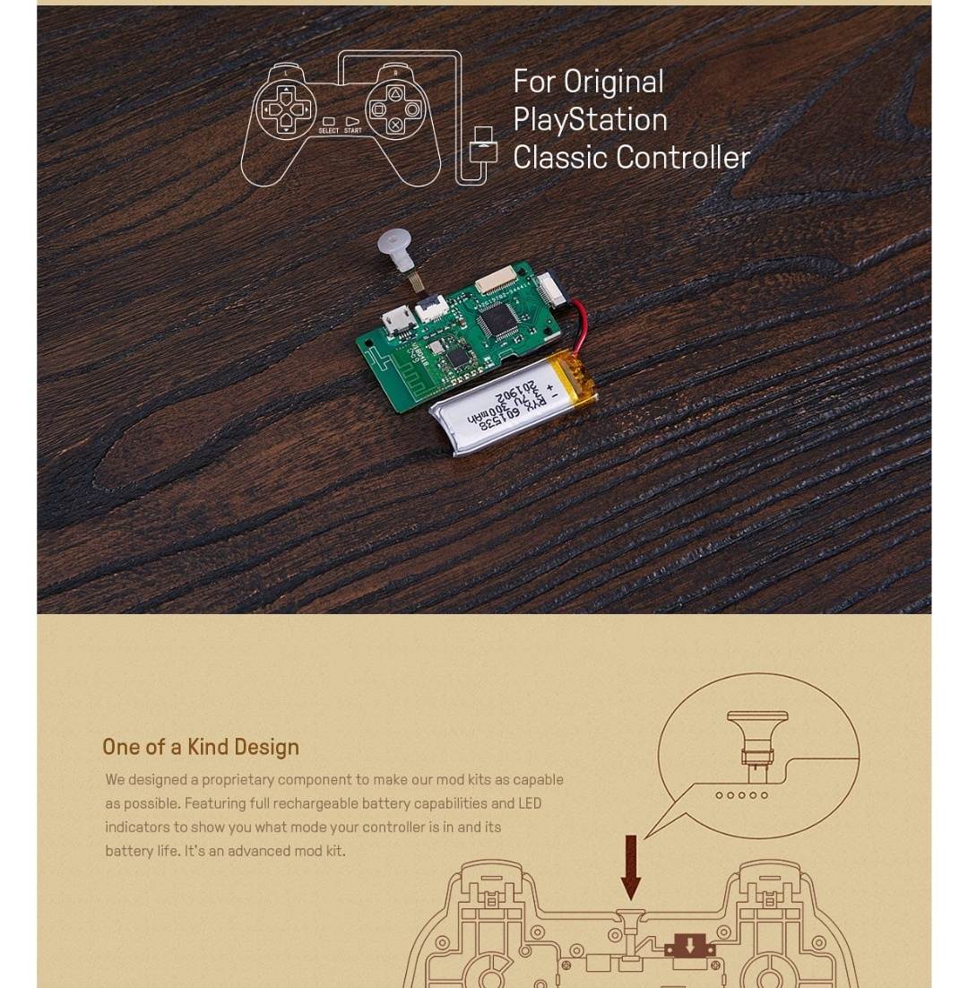 8Bitdo-Diy-Mod Kit-Playstation-Classic-Belchine-3