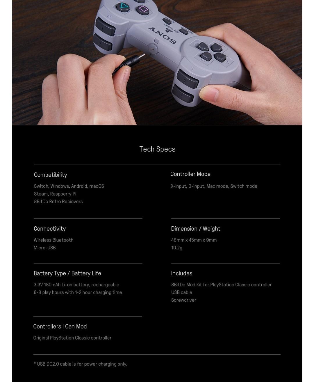 8Bitdo-Diy-Mod Kit-Playstation-Classic-Belchine-5