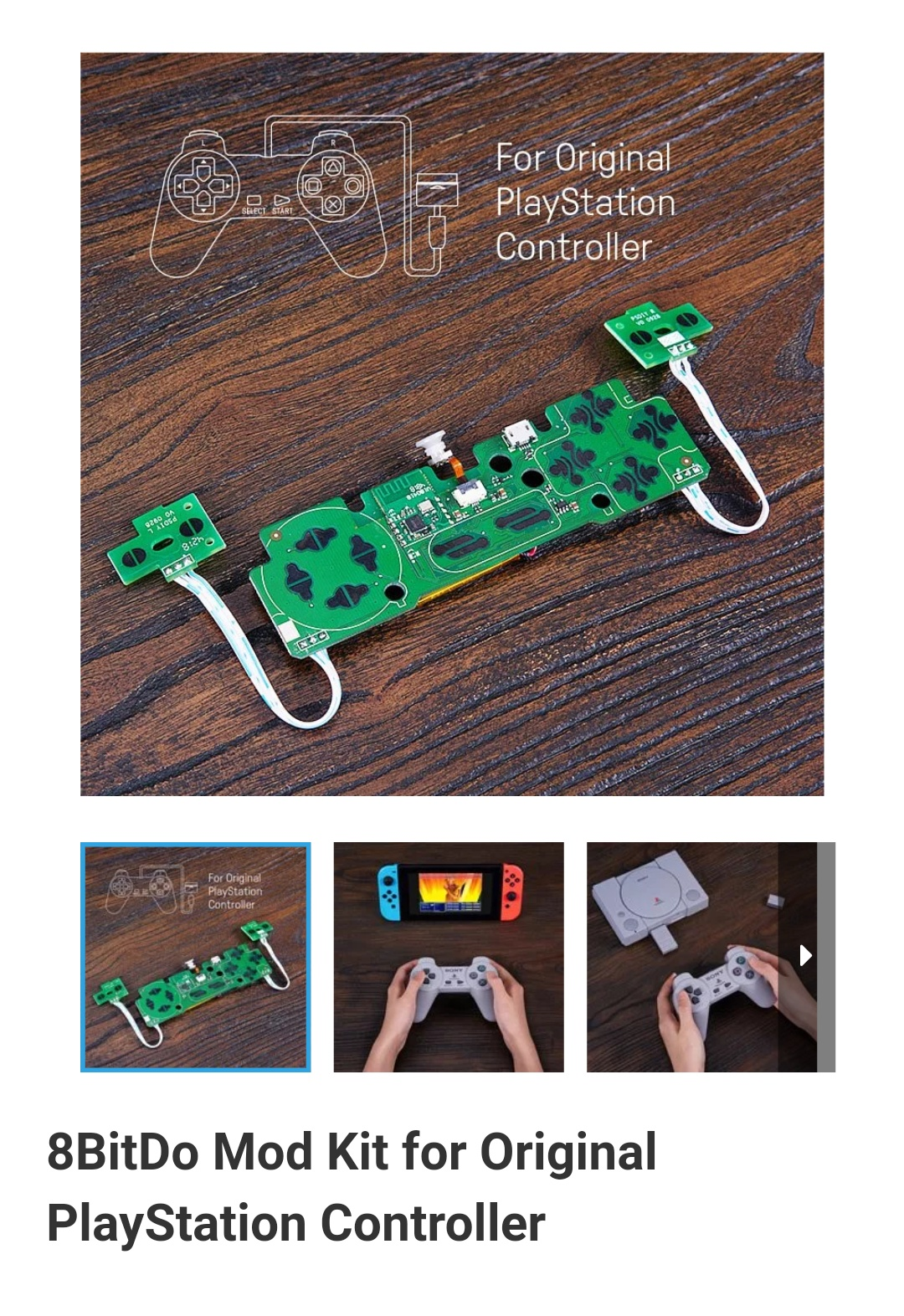 8Bitdo-Diy-Mod Kit-Playstation-Belchine-1