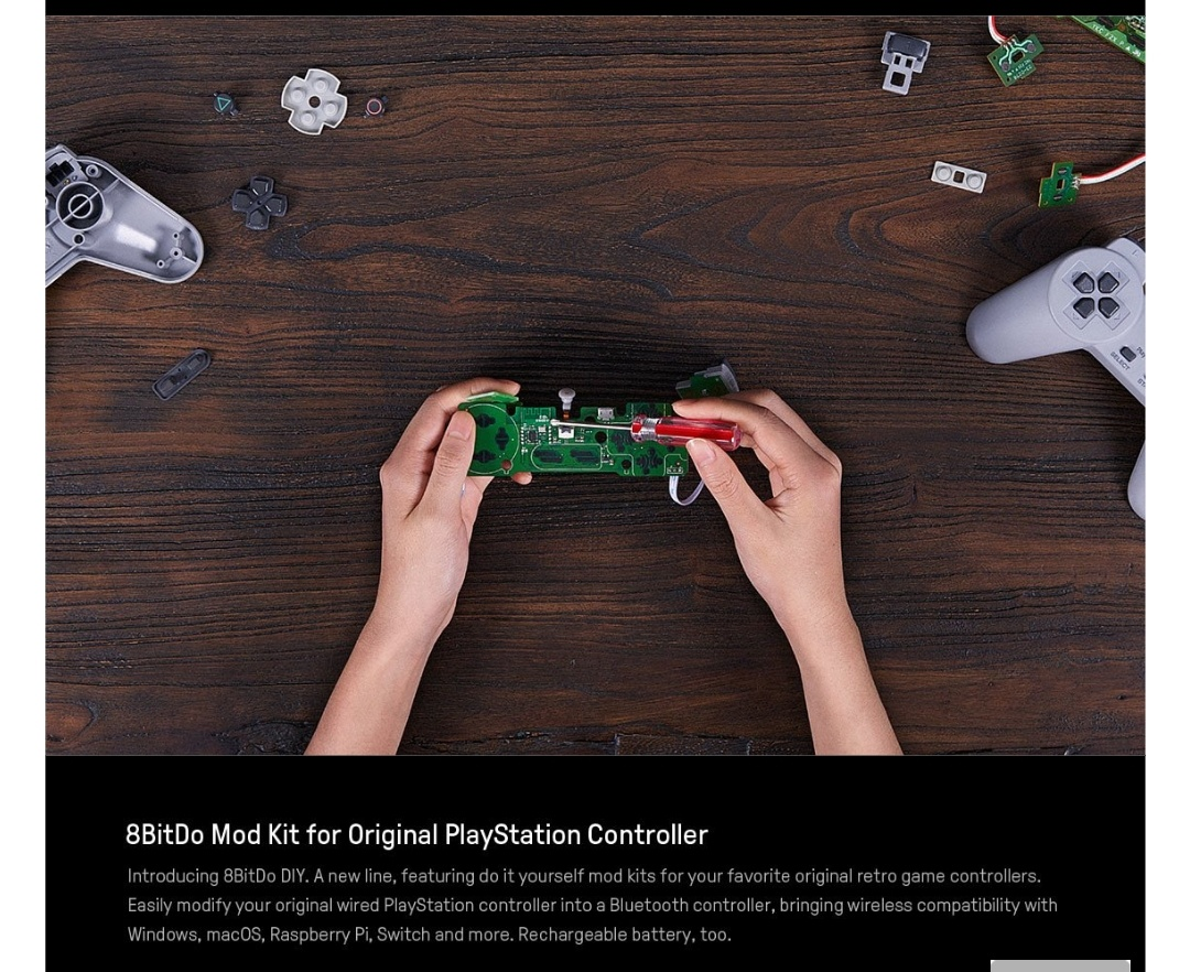 8Bitdo-Diy-Mod Kit-Playstation-Belchine-2