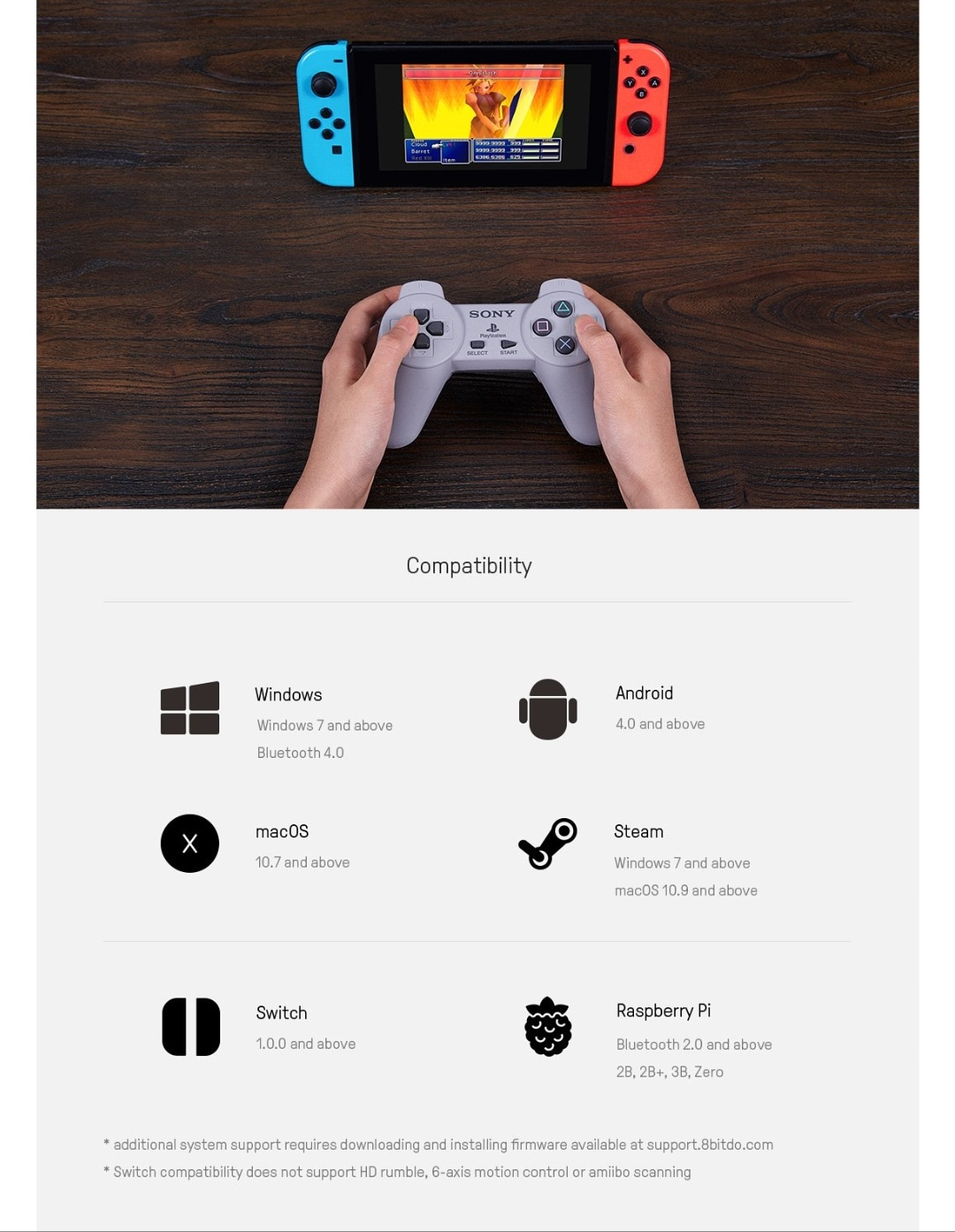8Bitdo-Diy-Mod Kit-Playstation-Belchine-4