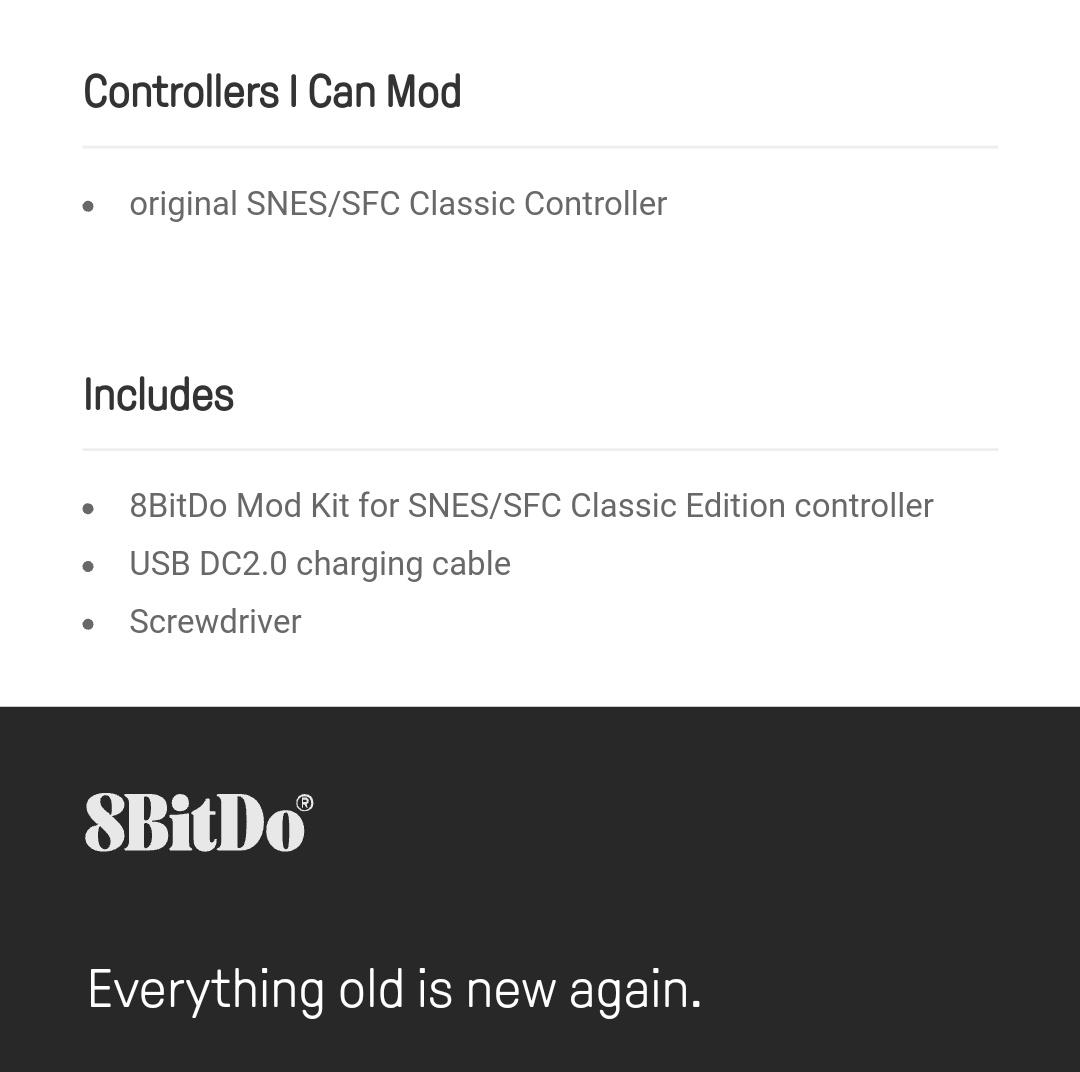 8Bitdo - Diy - Mod Kit - Snes - Belchine - 9